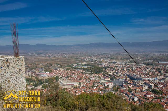 Panorama - Strumica city - View from Carevi Kuli (Czar's Towers)