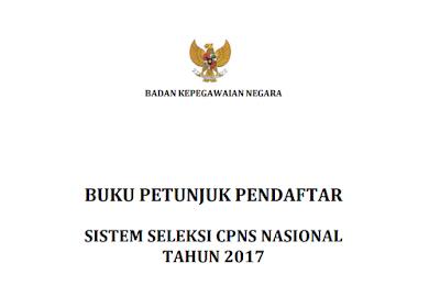 Download Buku Petunjuk Panduan Pendaftaran CPNS 2017 PDF