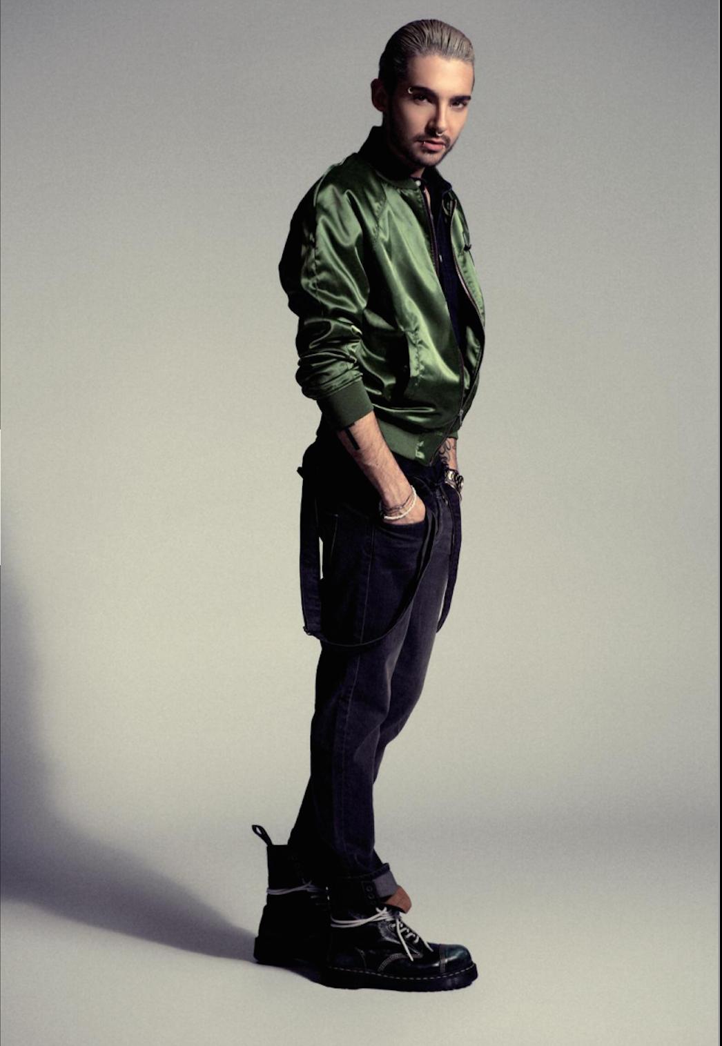 New pics bill kaulitz fashion editorial for superior for Tokio hotel