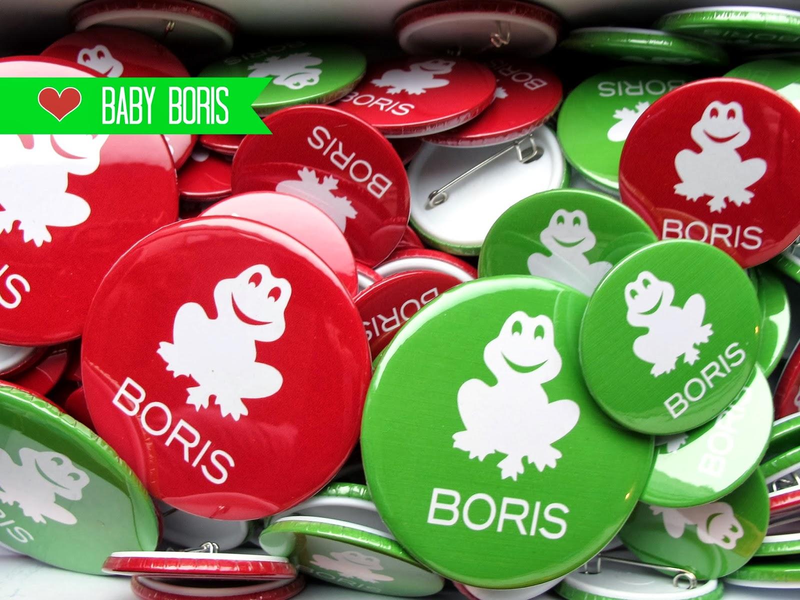 Buttons voor Boris