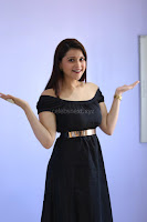 Mannara Chopra in Short Off Shoulder Black Dress ~  Exclusive 010.JPG