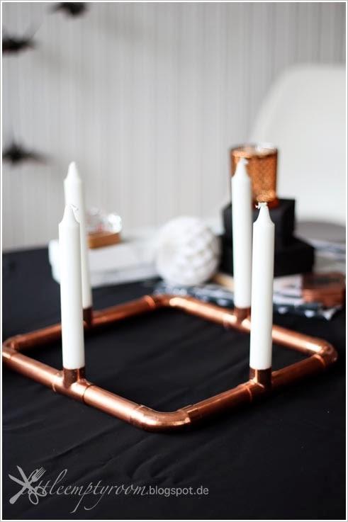 diy kupfer adventskranz. Black Bedroom Furniture Sets. Home Design Ideas
