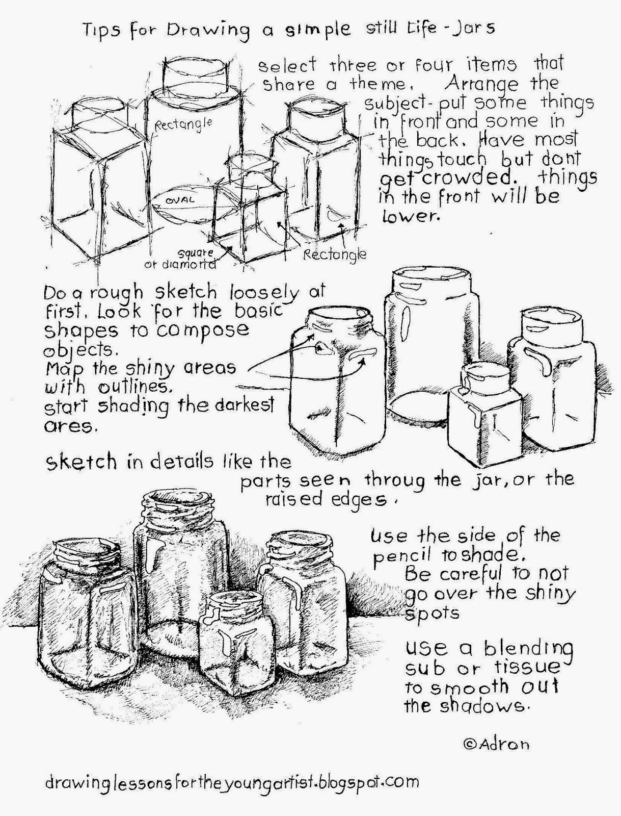 How To Draw Worksheets For The Young Artist Tips For How