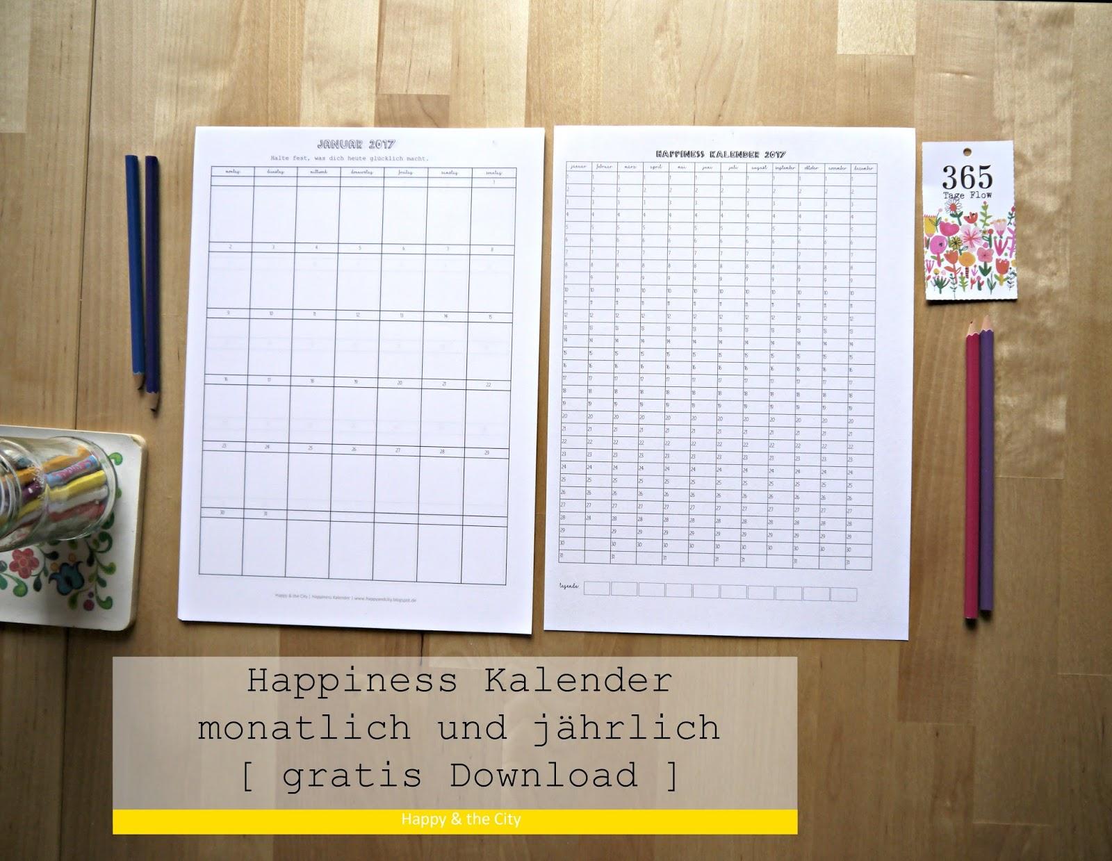 happiness kalender 2017 monat und jahr zum selbst ausf llen gratis download happy the city. Black Bedroom Furniture Sets. Home Design Ideas