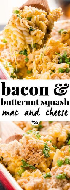 Healthy Butternut Squash Mac and Cheese with Bacon