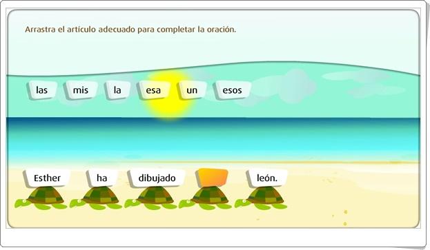 """""""El artículo"""" (Juego de Lengua Española de Primaria)"""