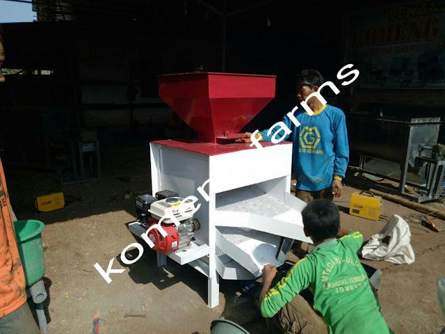 Mesin pemisah biji kangkung