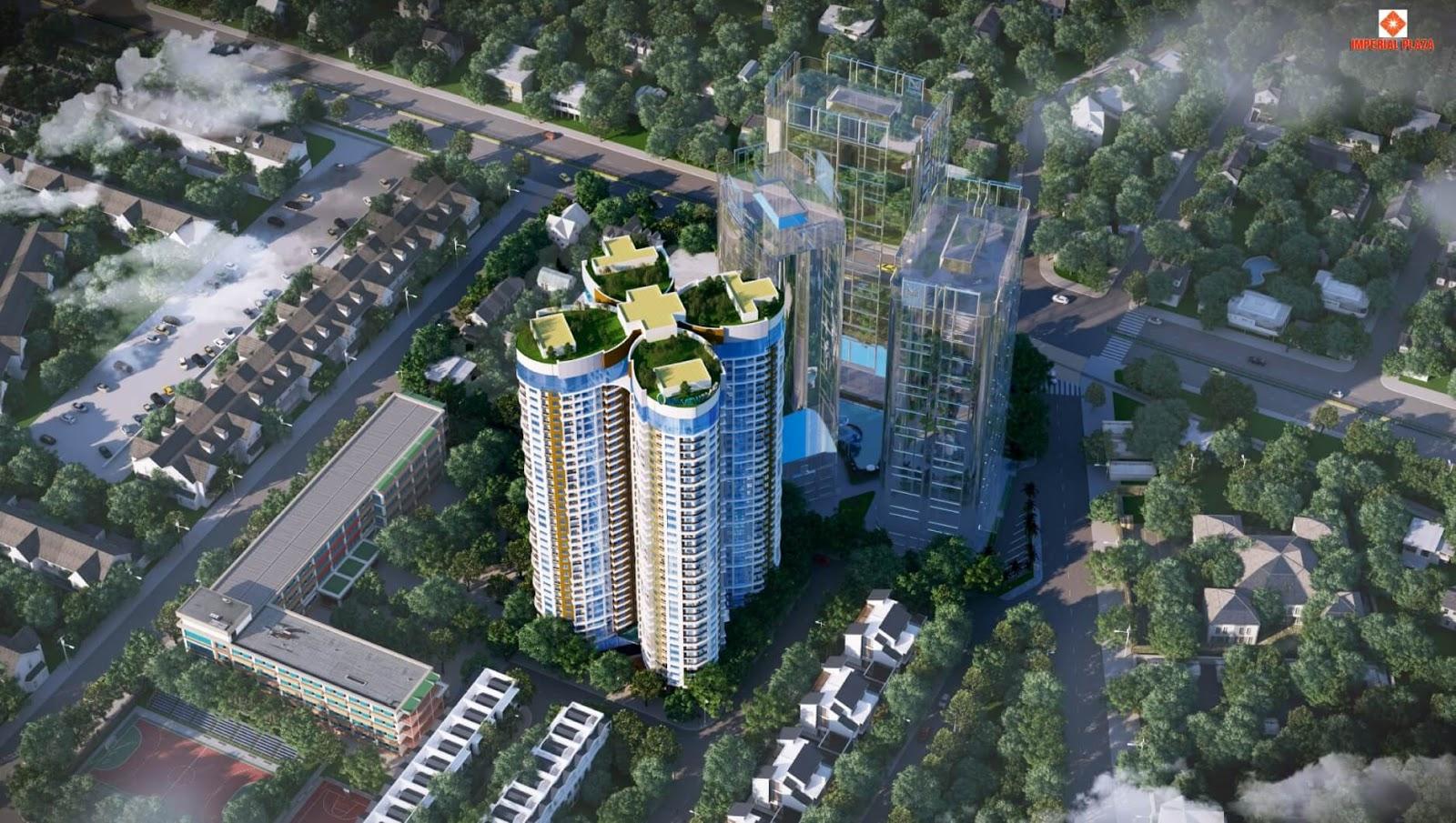 Phối cảnh dự án chung cư Sky View Plaza