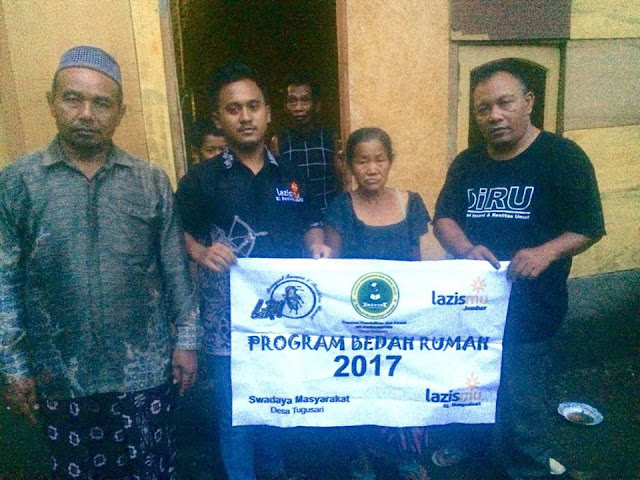 Hasil bedah rumah dhuafa oleh KL Lazismu Bangsalsari