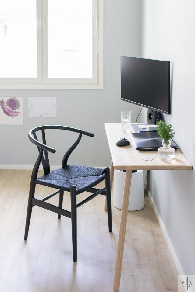 sisustus, interior, työhuone, villa h