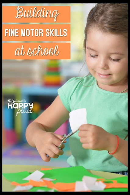 child cutting with scissors, fine motor skills