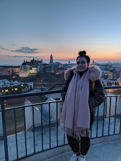 sunset at the top of lublin castle