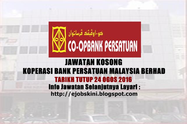 Jawatan Kosong Koperasi Bank Persatuan Malaysia Berhad