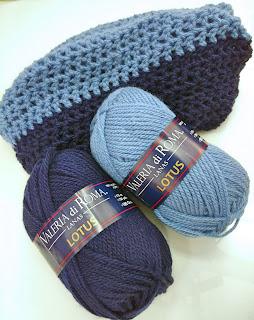 cuello de crochet en lana gorda lotus
