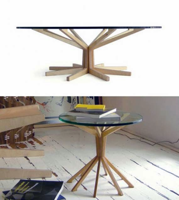 Wooden Table Base for Glass Tables picture