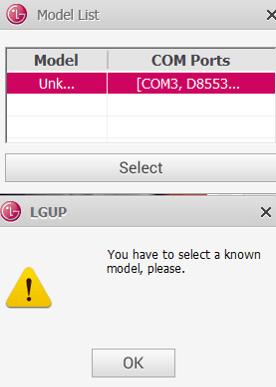 Unknown model LG UP Error Solution | Mobile Hospital
