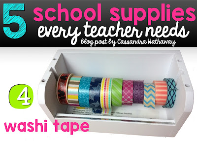 Washi tape is AMAZING and one of my favorite things to use in my classroom! I not only use it for my planner, but also to put things up around my classroom!