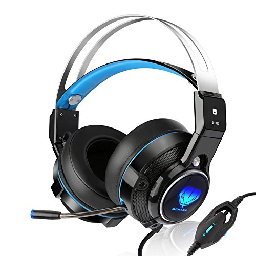 BUTFULAKE SL-320 Wired Stereo Gaming Headset for PS4, Xbox One Controller,  Over-Ear PC Gaming