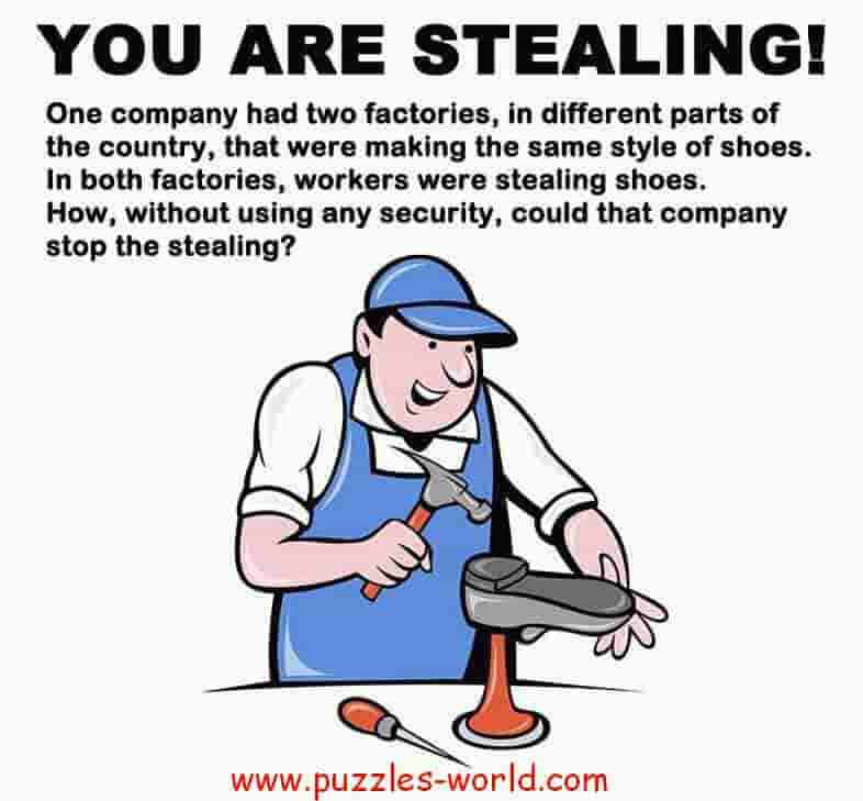 Stealing Shoes Puzzle