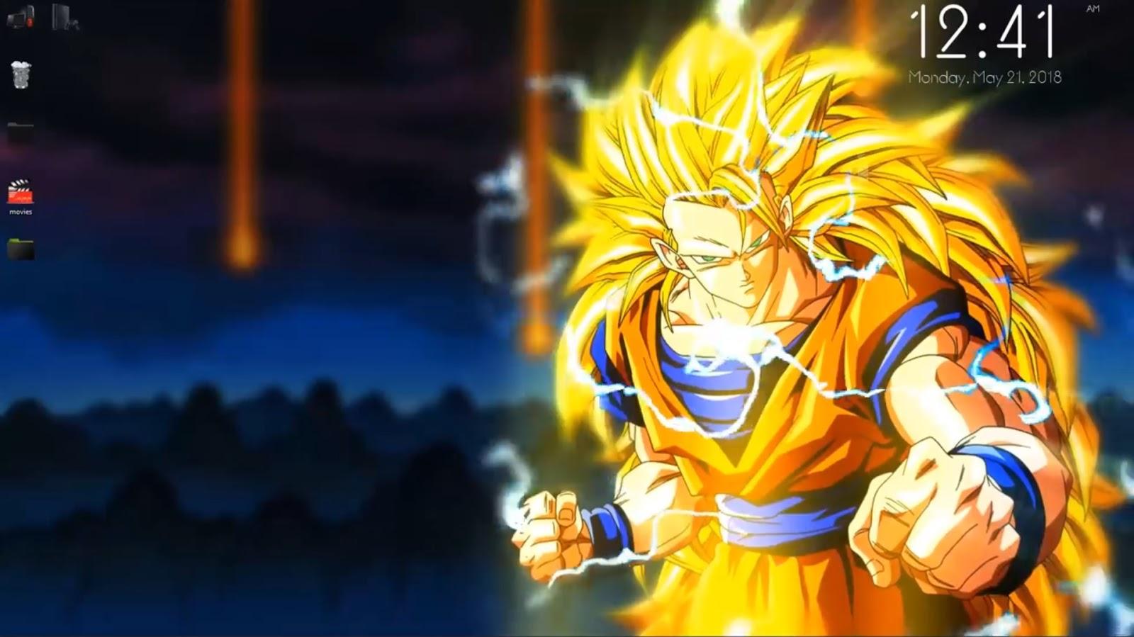Dragon Ball Z Sangoku Super Saiyan 3 Live Wallpaper Free Download