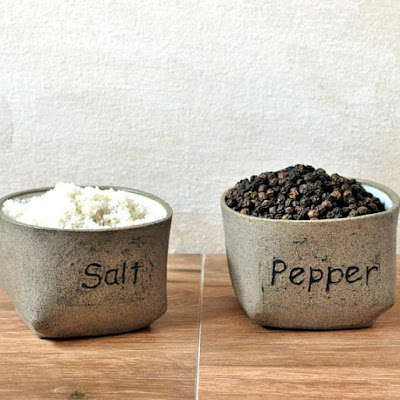 Rustic Salt and Pepper Cellars