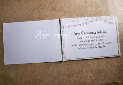 Libro de firmas Primera Comunión