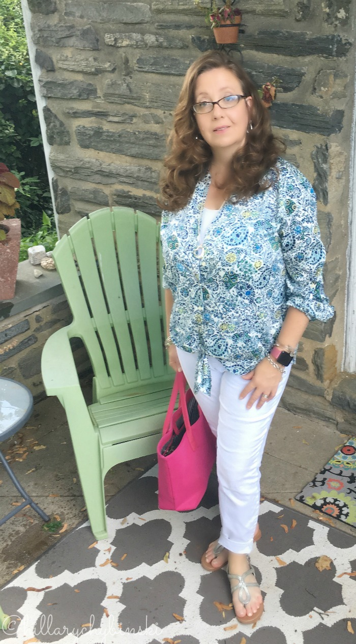 Ann Taylor Blouse and Skinny Jeans