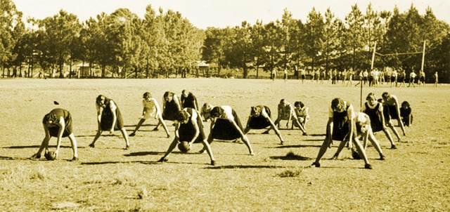 Educación física antigua en mujeres