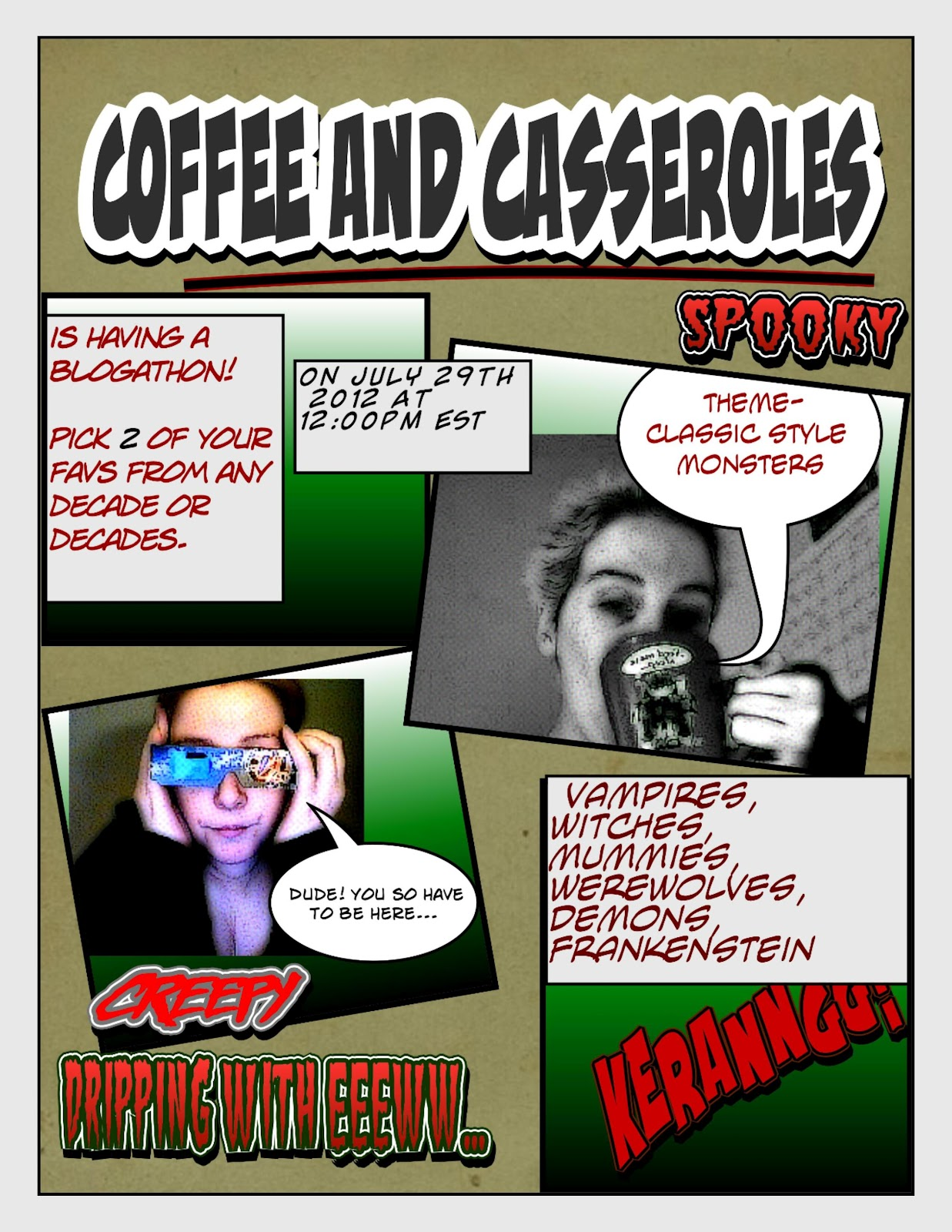 Coffee and Casseroles: July 2012