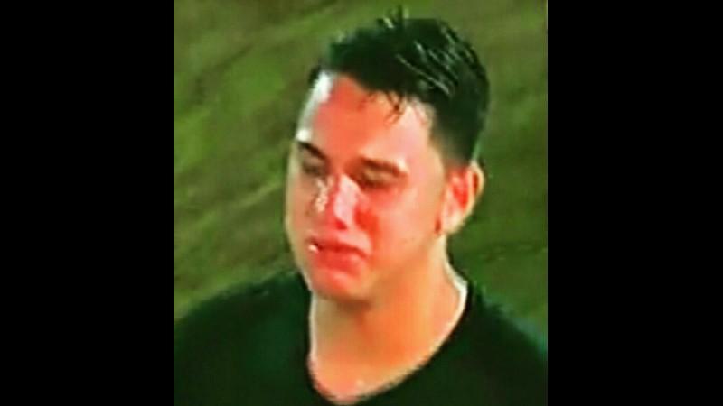 Quincy Kammeraad menangis saat dikartu merah