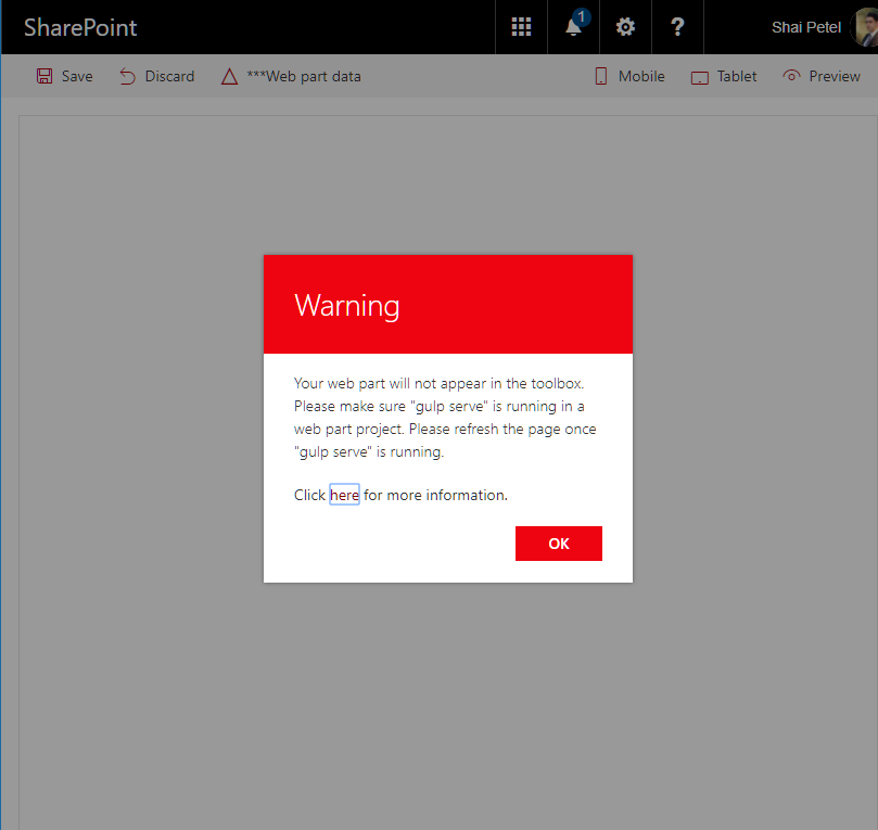 KWizCom SharePoint Blog: SPFx workbench certificate error in