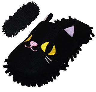 Image: Animal Microfiber Mop Cleaning Slippers | Get more done around your home with this pair of microfiber cleaning slippers in cute animal shape
