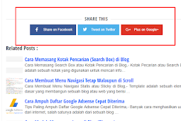 Cara Membuat Share Media Sosial Fast Loading di Blog