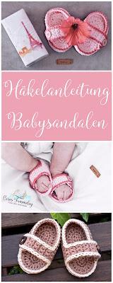 Häkelanleitung für einfache Babysandelen - perfekt für den Sommer