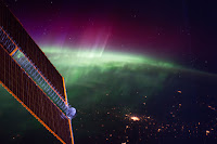 Aurora over Canada seen from the International Space Station