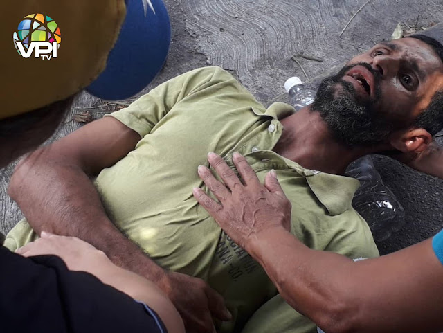 VENEZUELA: Dos manifestantes que exigían el ingreso de ayuda humanitaria fueron heridos en Lara.