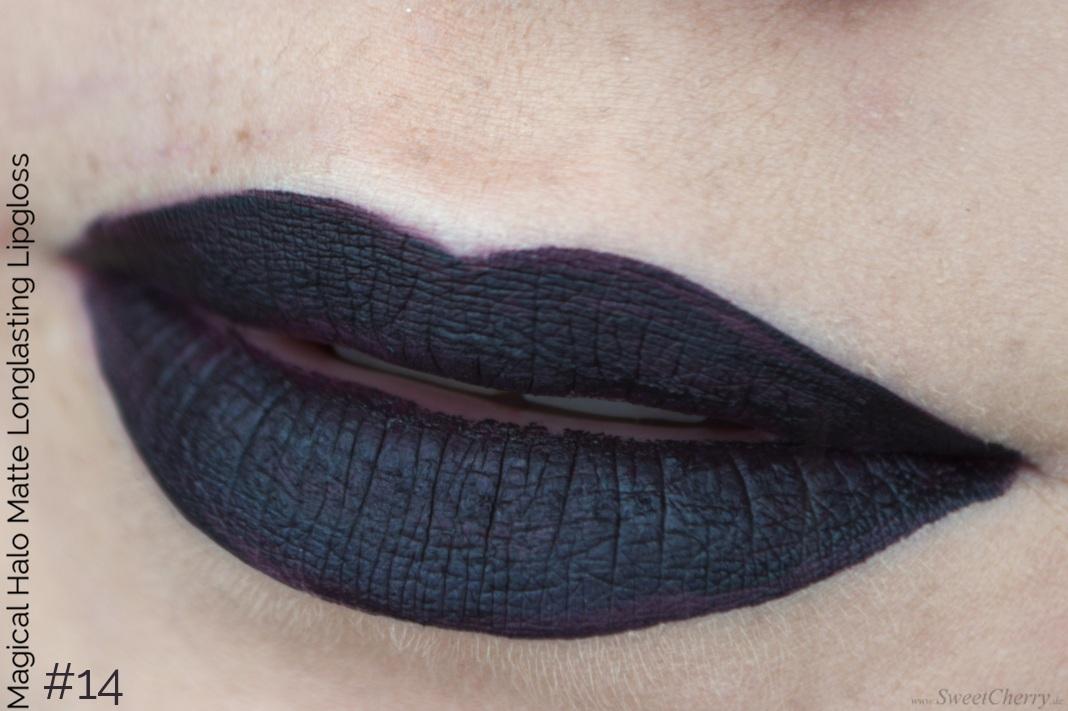Tragebild vom dunkellilanen matten Lipgloss von Magical Halo