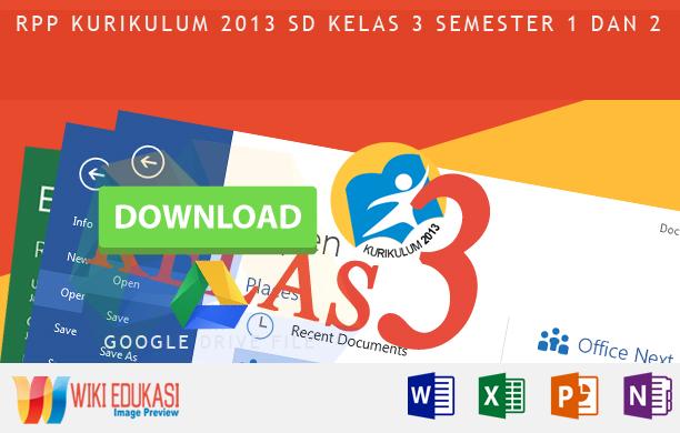 RPP KURIKULUM 2013 SD KELAS 3 SEMESTER 1 - Ringan Berat Sama Dijinjing Berat Sama Dipikul