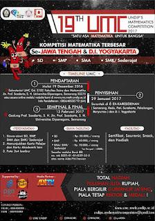 19th Undip's Mathematics Competition 2017