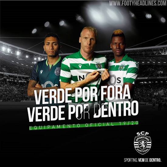 Sporting 19-20 Home, Away & Fourth Kits Released - Footy