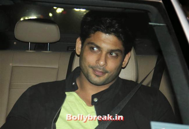 Siddharth Shukla, Bollywood celebs Clicked in their Cars at 2 States Special Screening
