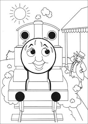 Gambar Mewarnai Thomas and Friends - 12