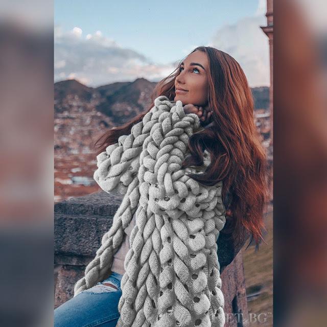 Πλεκτή γυναικεία ζακέτα AVISHA GREY