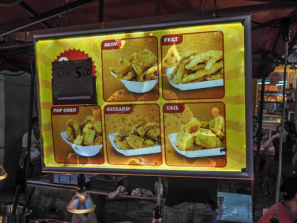deep fried chicken jalan alor market kuala lumpur