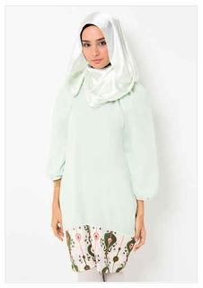 10 Koleksi Terbaru Baju Muslim Batik Kombinasi Sifon 2018