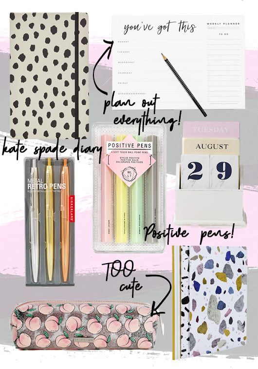 All the tips and stationary you need for a productive 2018