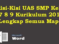 Kisi-Kisi UAS SMP Kelas 7 8 9 Kurikulum 2013 Lengkap Semua Mapel