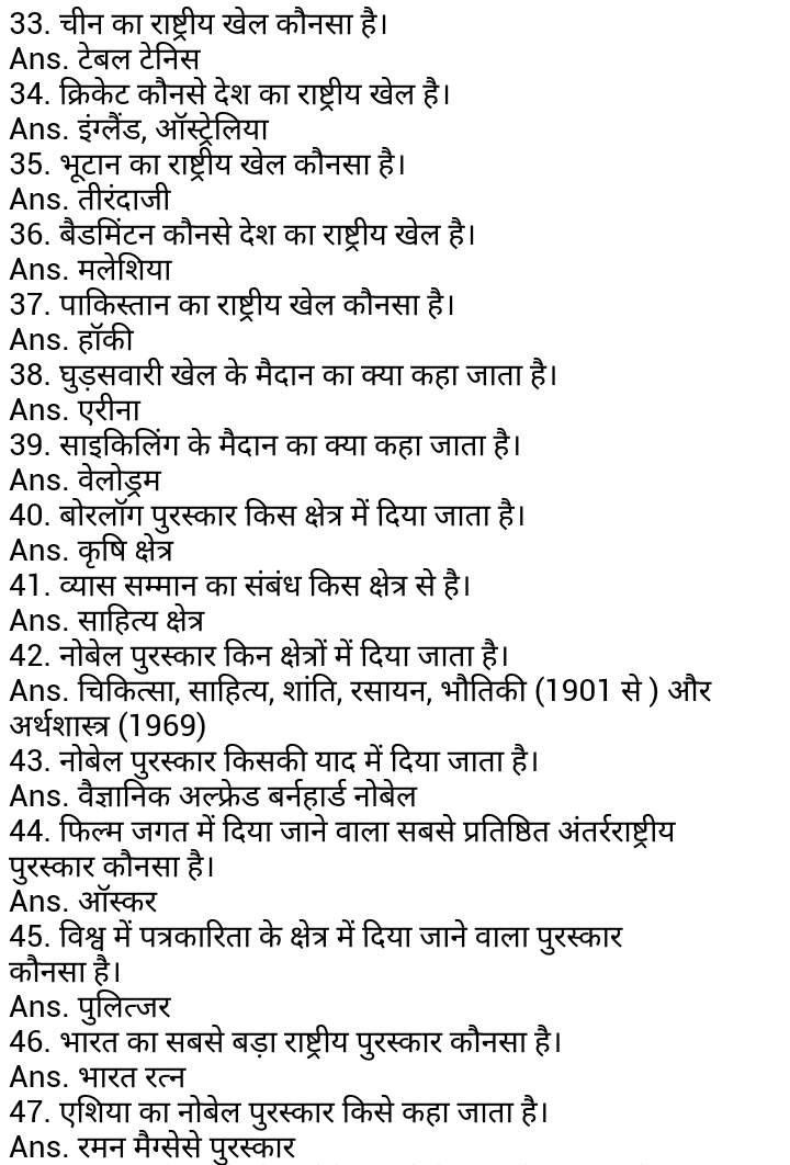 Hindi GK. Top General Knowledge questions in Hindi