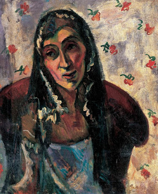 Self-portrait with Shawl, Margrit Graber