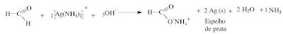 reação reagente tollens aldeído